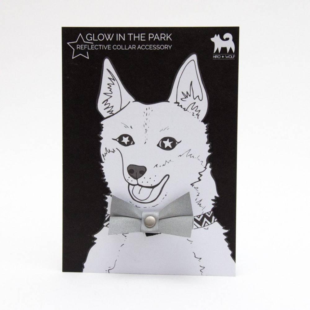 Hiro + Wolf Reflective Scotchlite Cat Bow