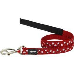 Red Dingo Dog Lead Design Stars