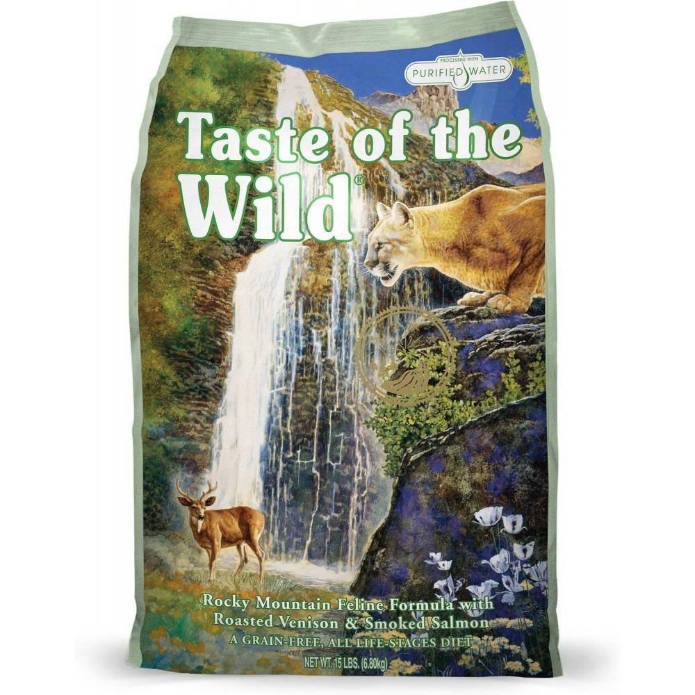 Taste of the Wild Rocky Mountain rețetă pentru feline cu vânat la cuptor și somon afumat 6,6kg