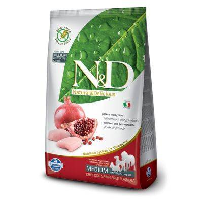N&D Grain Free formula Canină Pui & Rodie Puppy Talie Mare 12 Kg