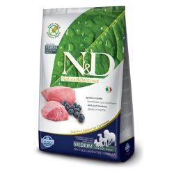 N&D Grain Free formula Canină Miel și Afine Adult Talie Medie 2.5 Kg