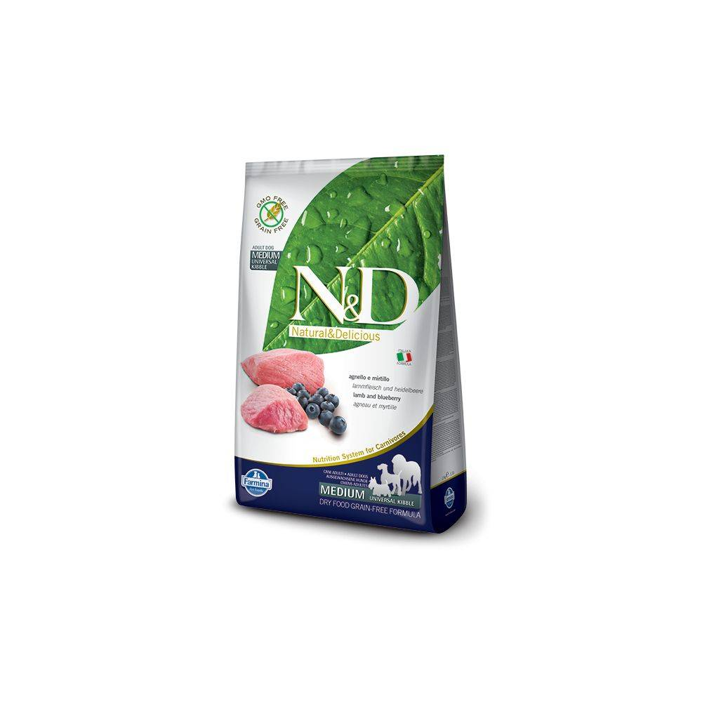 N&D Grain Free Canine Lamb and Blueberry Adult Medium 2.5 Kg