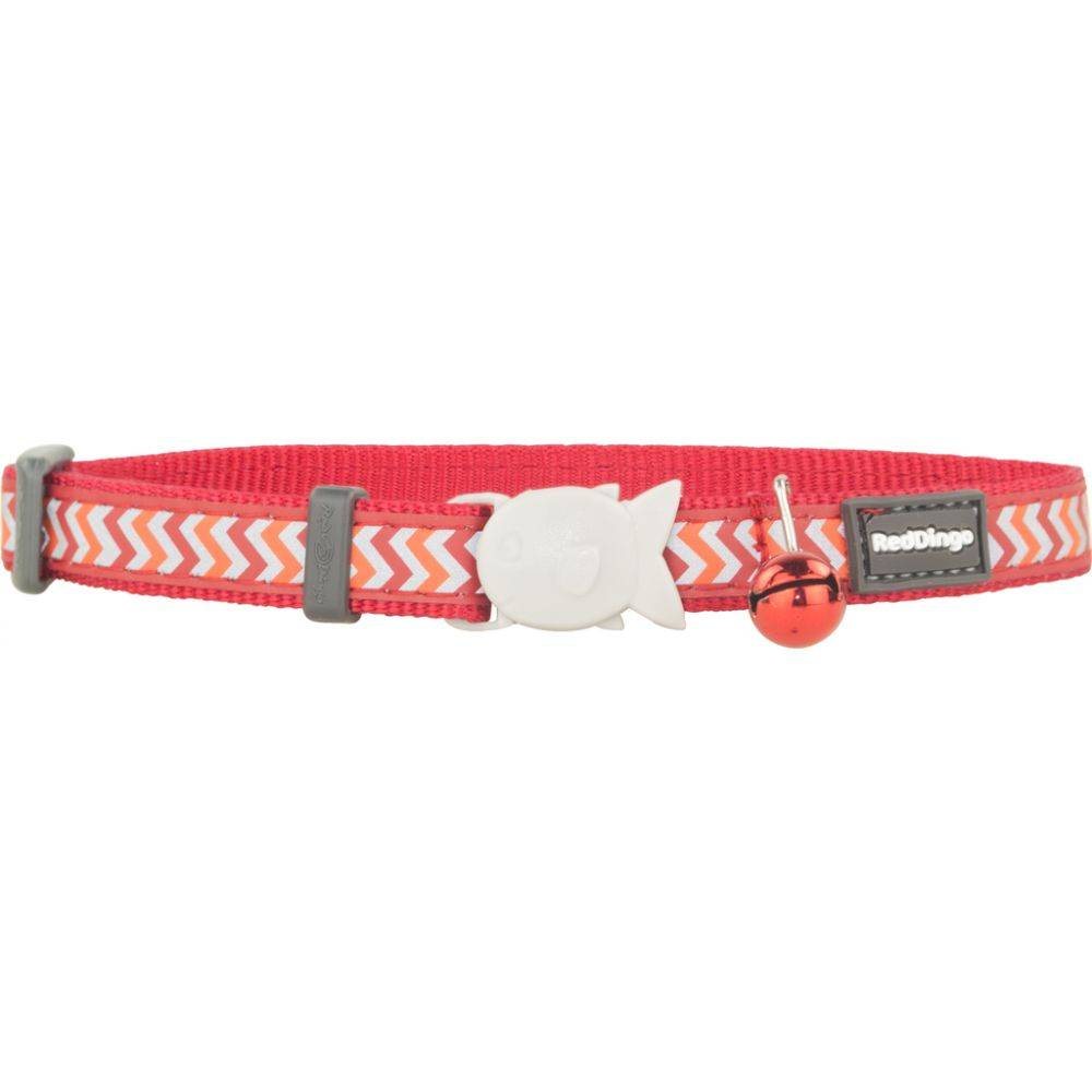 Red Dingo Cat Collar Reflective Ziggy