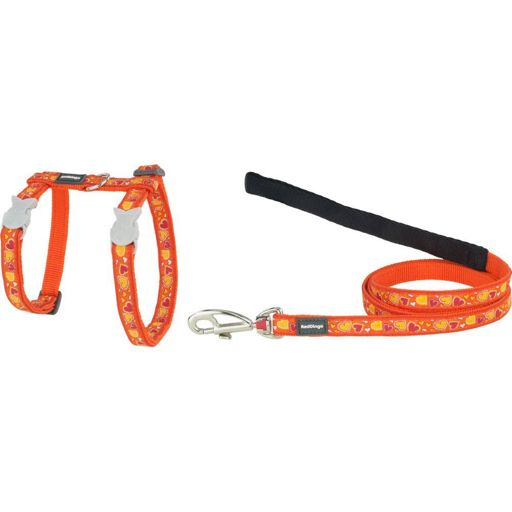 Red Dingo Cat Harness & Lead Combo Design Breezy Love