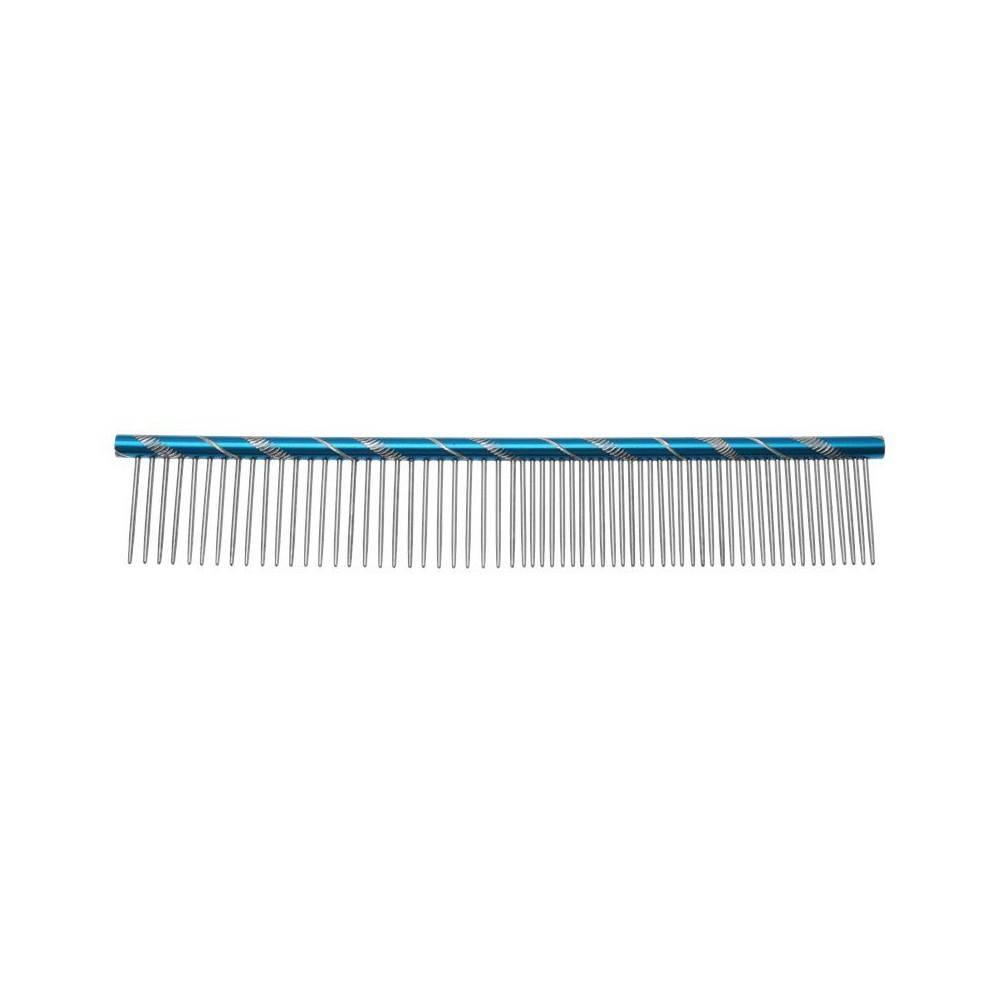 Groom Professional Fantasia Round Comb 20cm Blue