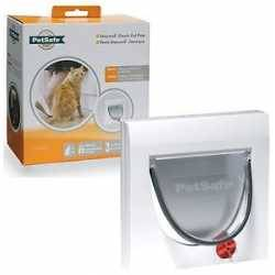 Pet Safe 2-Way Locking Cat Door Brown M