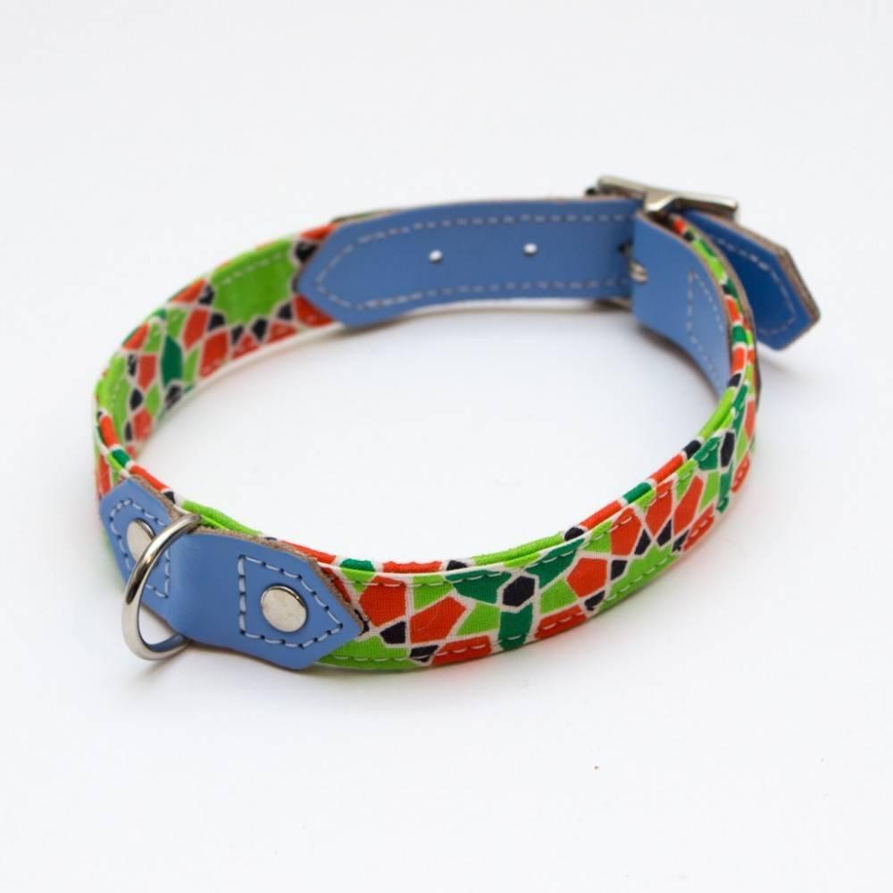 Hiro + Wolf Mosaic Dog Collar