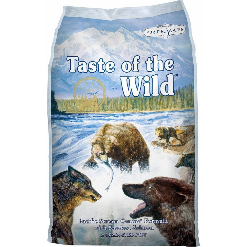 Taste of the Wild Pacific Stream® Formulă Canină cu Somon Afumat 12,2kg