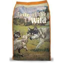 Taste of the Wild High Prarie Puppy® Formulă pentru Câini Juniori cu Bizon și Vânat la Cuptor 12,2kg