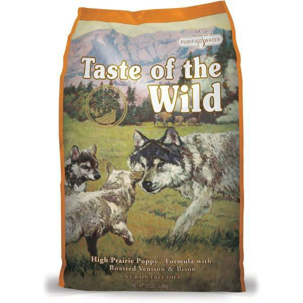 Taste of the Wild High Prairie Puppy® Formula with Roasted Bison & Roasted Venison 12.2kg