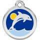 Red Dingo Enamel Tag Dolphin
