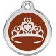 Red Dingo Enamel Tag Crown
