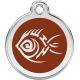 Red Dingo Enamel Tag Tribal Fish