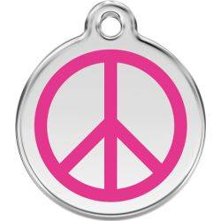 Red Dingo Enamel Tag Peace