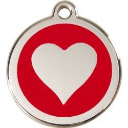 Red Dingo Enamel Tag Heart
