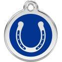 Red Dingo Enamel Tag Horse Shoe