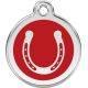 Red Dingo Enamel Tag Horse Shoe