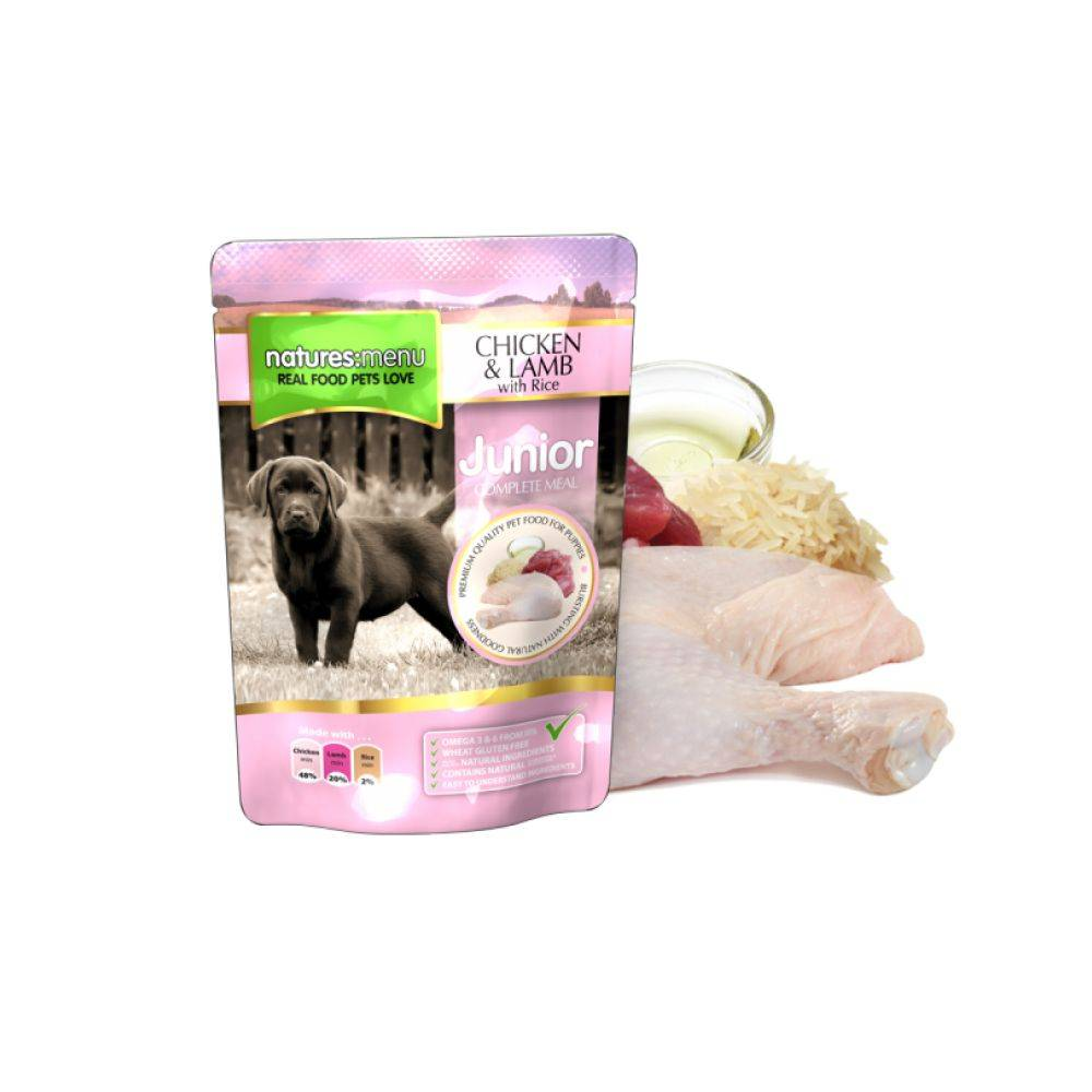 Natures Menu Dog Junior cu Chicken and Lamb 300g