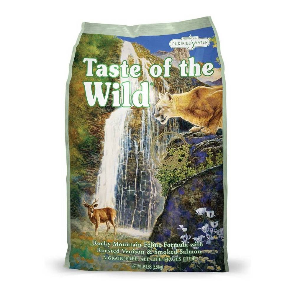 Taste of the Wild Rocky Mountain® Formulă pentru Feline cu Vânat la Cuptor și Somon Afumat 2kg