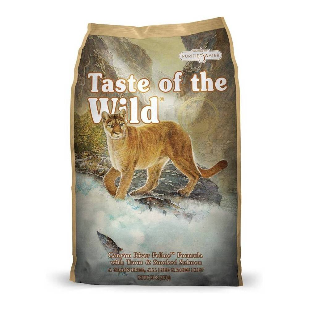 Taste of the Wild Canyon River Feline® Formula with Trout & Smoked Salmon 2kg