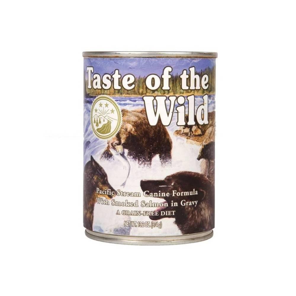 Taste of the Wild Pacific Stream® Formulă Canină cu Somon în Sos 390g