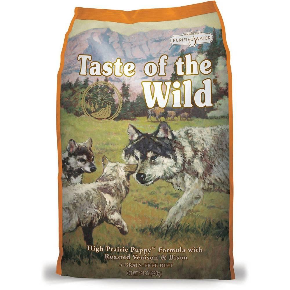 Taste of the Wild High Prarie Puppy® Formulă pentru Câini Juniori cu Bizon și Vânat la Cuptor 2kg