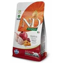 N&D Prepeliță, Dovleac și Rodie Pisici Adulte