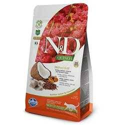 N&D Quinoa Prepeliță Piele & Blană Pisici Adulte