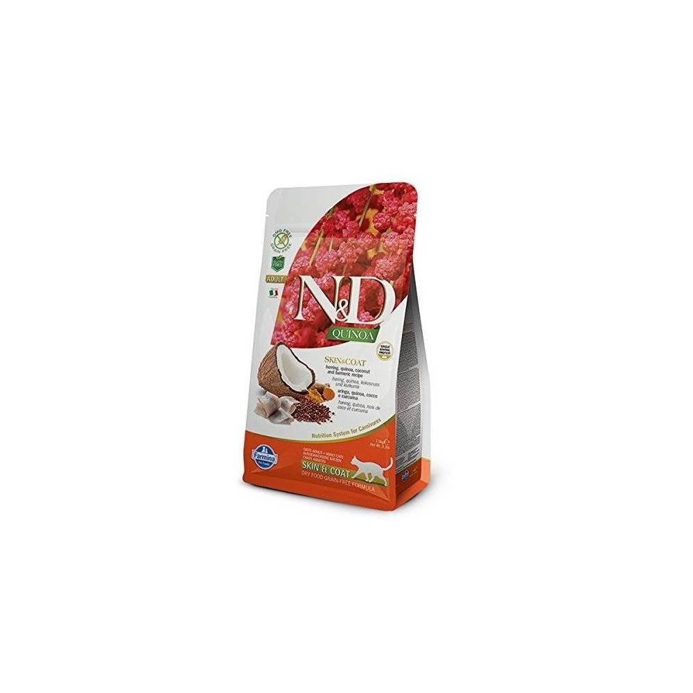N&D Quinoa Skin&Coat Quail Adult Cat