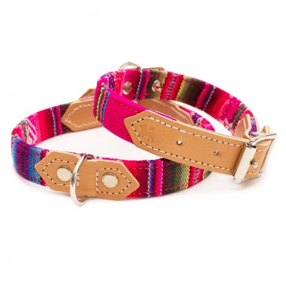 Hiro + Wolf Inca Pink Dog Collar