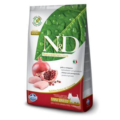 N&D Grain Free formula Canină Pui & Rodie Adult Talie Mica 7 kg