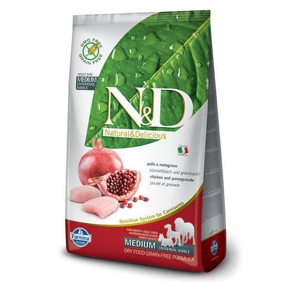 N&D Grain Free Pui & Rodie Câine Adult Mediu 2.5 Kg