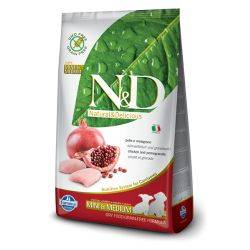 N&D Grain Free formula Canină Pui & Rodie Junior Mini & Mediu 2.5 Kg