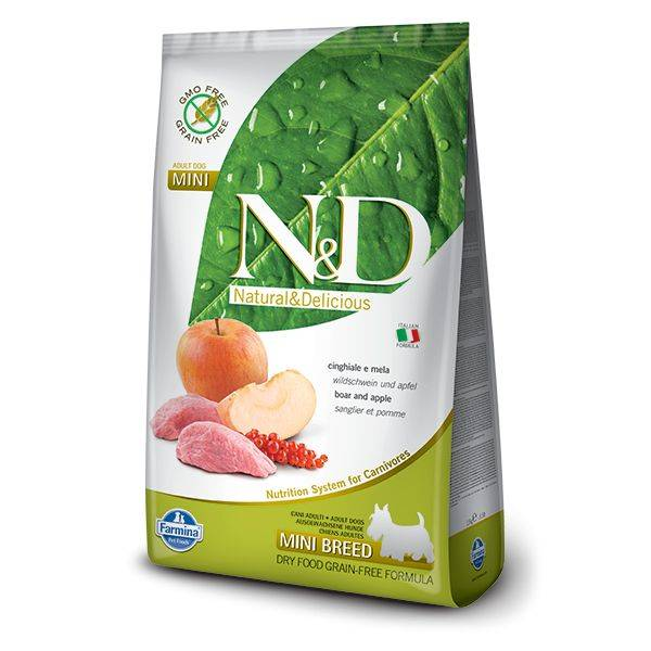 N&D Grain Free Mistreț & Măr Câine Adult Mini 2.5 Kg