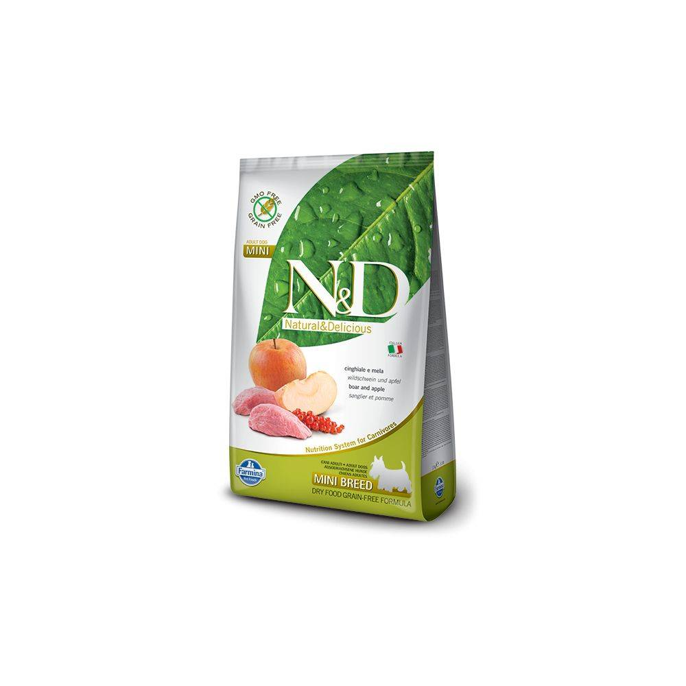 N&D Grain Free formula Canină Mistret & Mar Adult Talie Mica 7 Kg