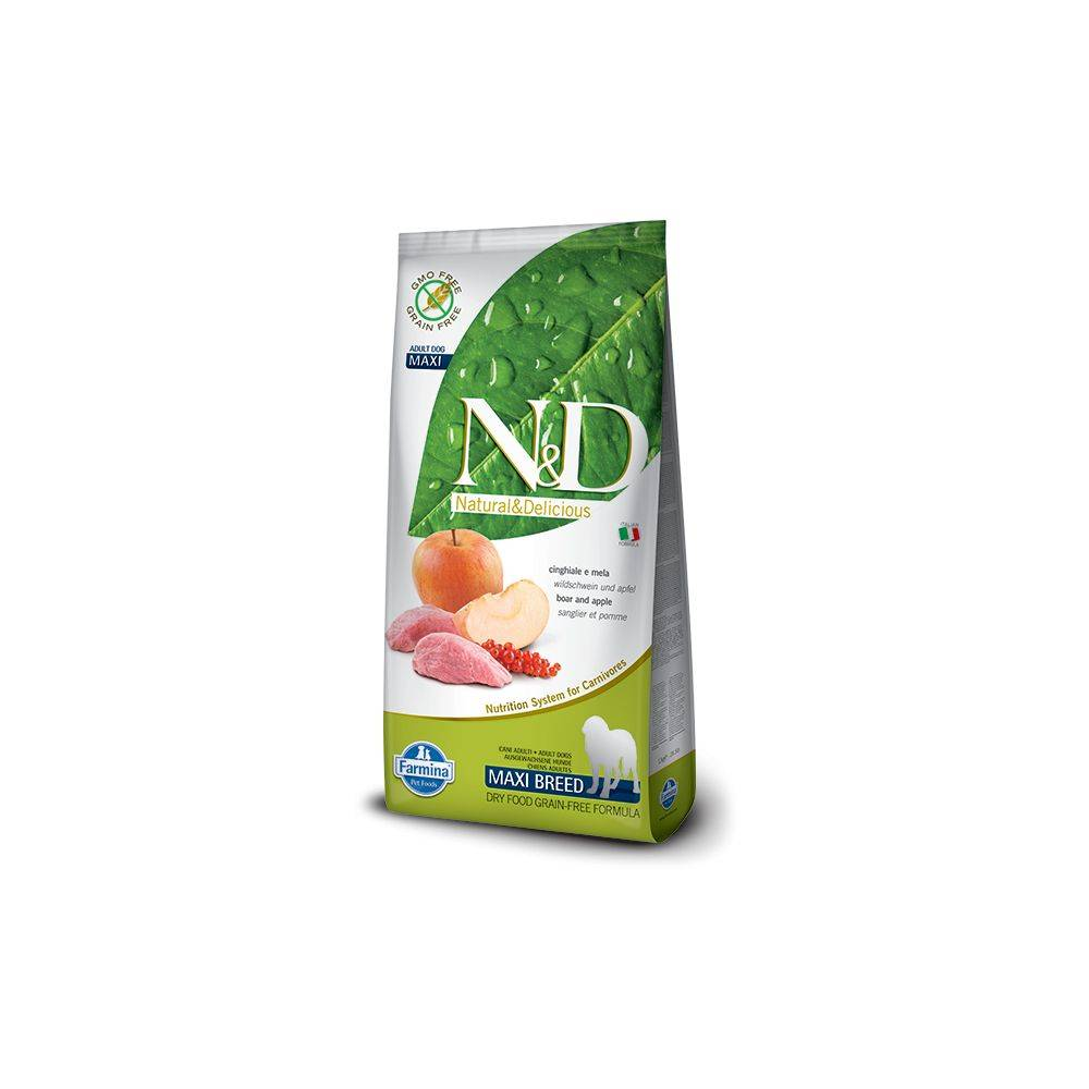 N&D Grain Free formula Canină Mistret & Mar Adult Talie Mare 12 Kg