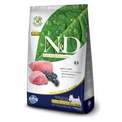 N&D Grain Free formula Canină Miel și Afine Adult Mini 2.5 Kg