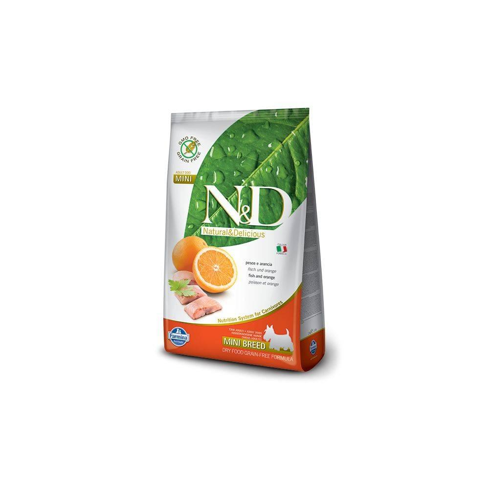 N&D Grain Free Pește & Portocală Câine Adult Mini 7 Kg