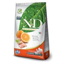 N&D Grain Free formula Canină Pește și Portocală Adult Mediu 2.5 Kg