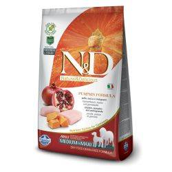 N&D Grain Free Canine Pumpkin Chicken & Pomegranate Adult Medium Maxi 12 Kg