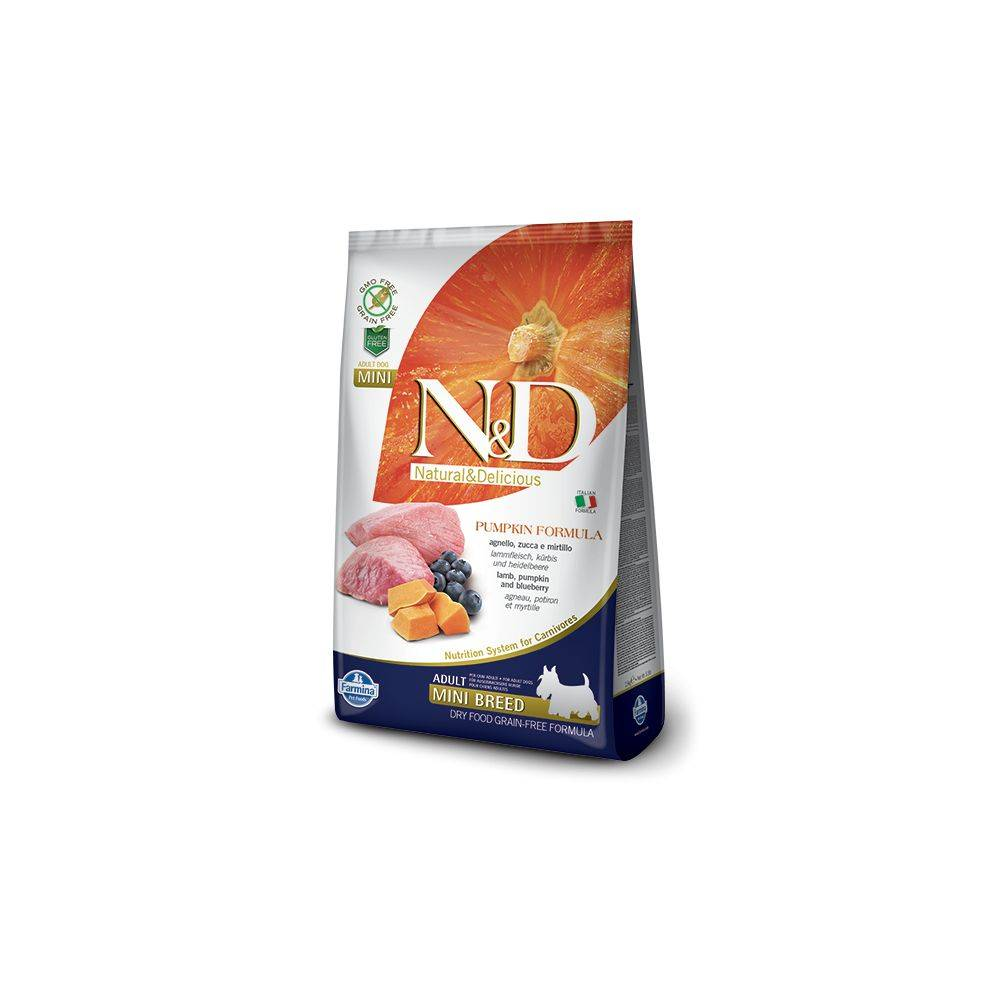 N&D Grain Free Canine Pumpkin Lamb and Blueberry Adult Mini 2.5 Kg