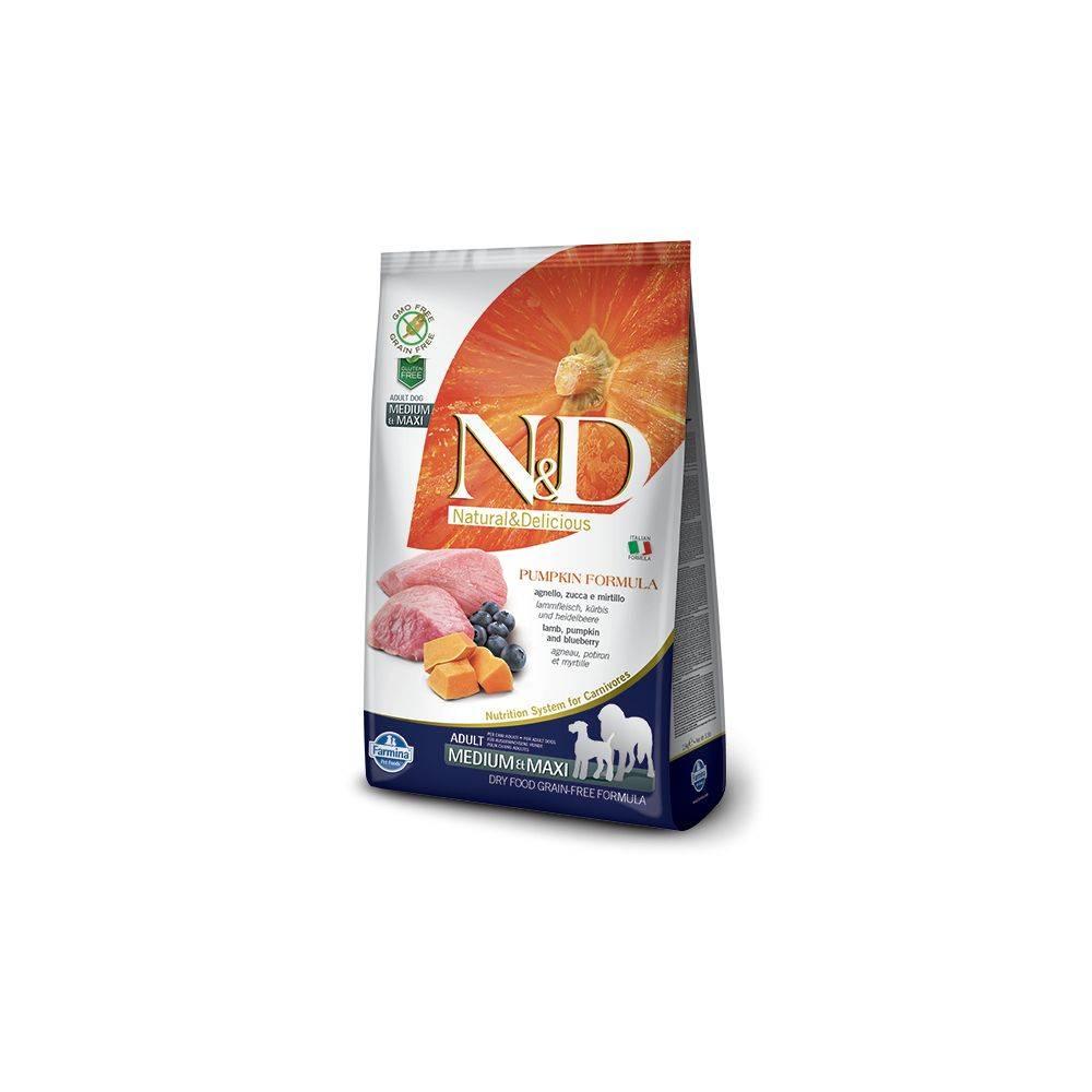N&D Grain Free Dovleac Miel & Afine Câine Adult Mediu Maxi  2.5 Kg