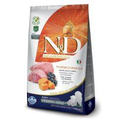 N&D Grain Free Canine Pumpkin Lamb and Blueberry Adult Medium Maxi 12 Kg