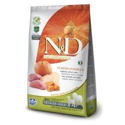 N&D Grain Free formula Canină Dovleac Mistreț și Măr Adult Mediu Maxi 2.5 Kg