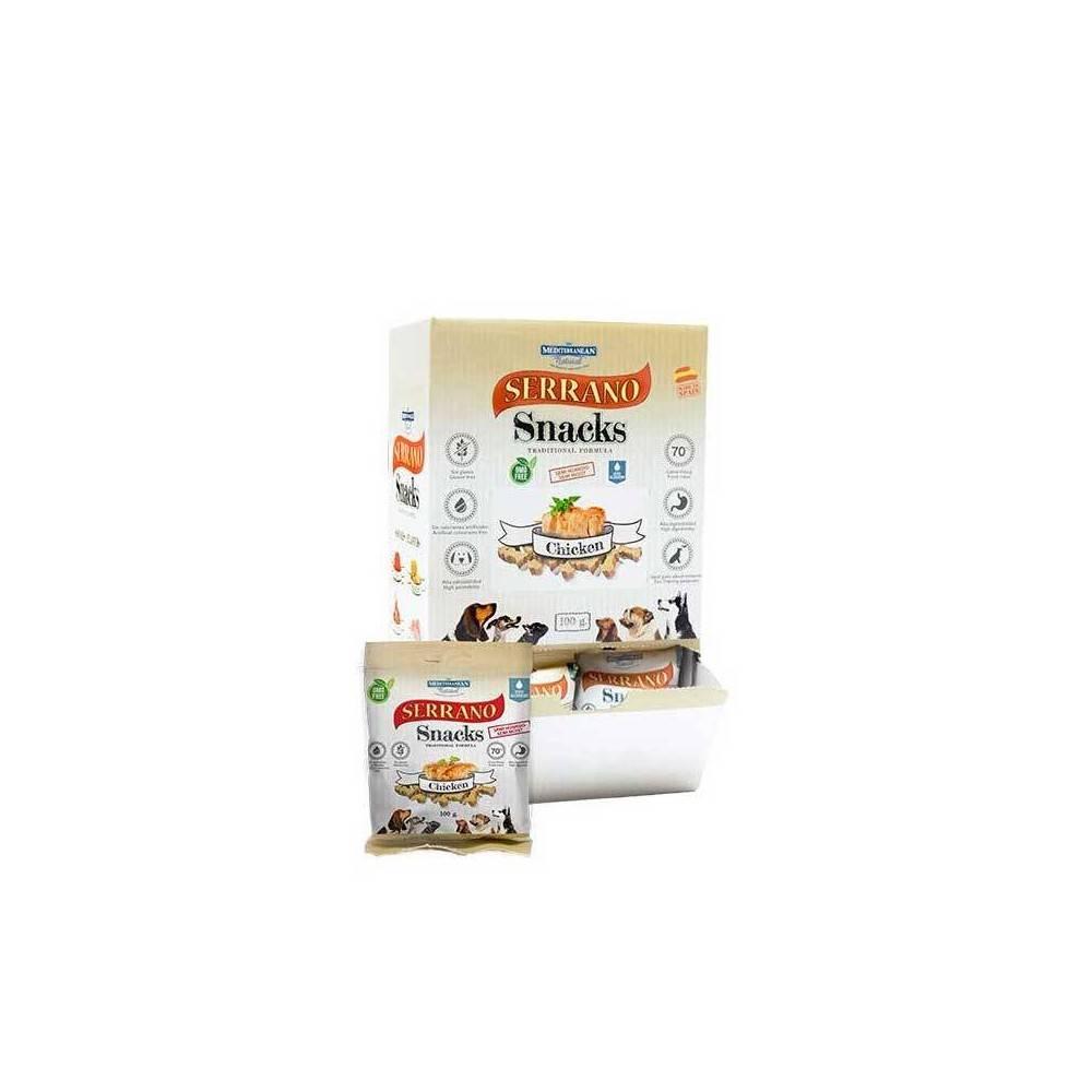 SERRANO Dog Snacks. Chicken 1Box (25buc x 100gr)