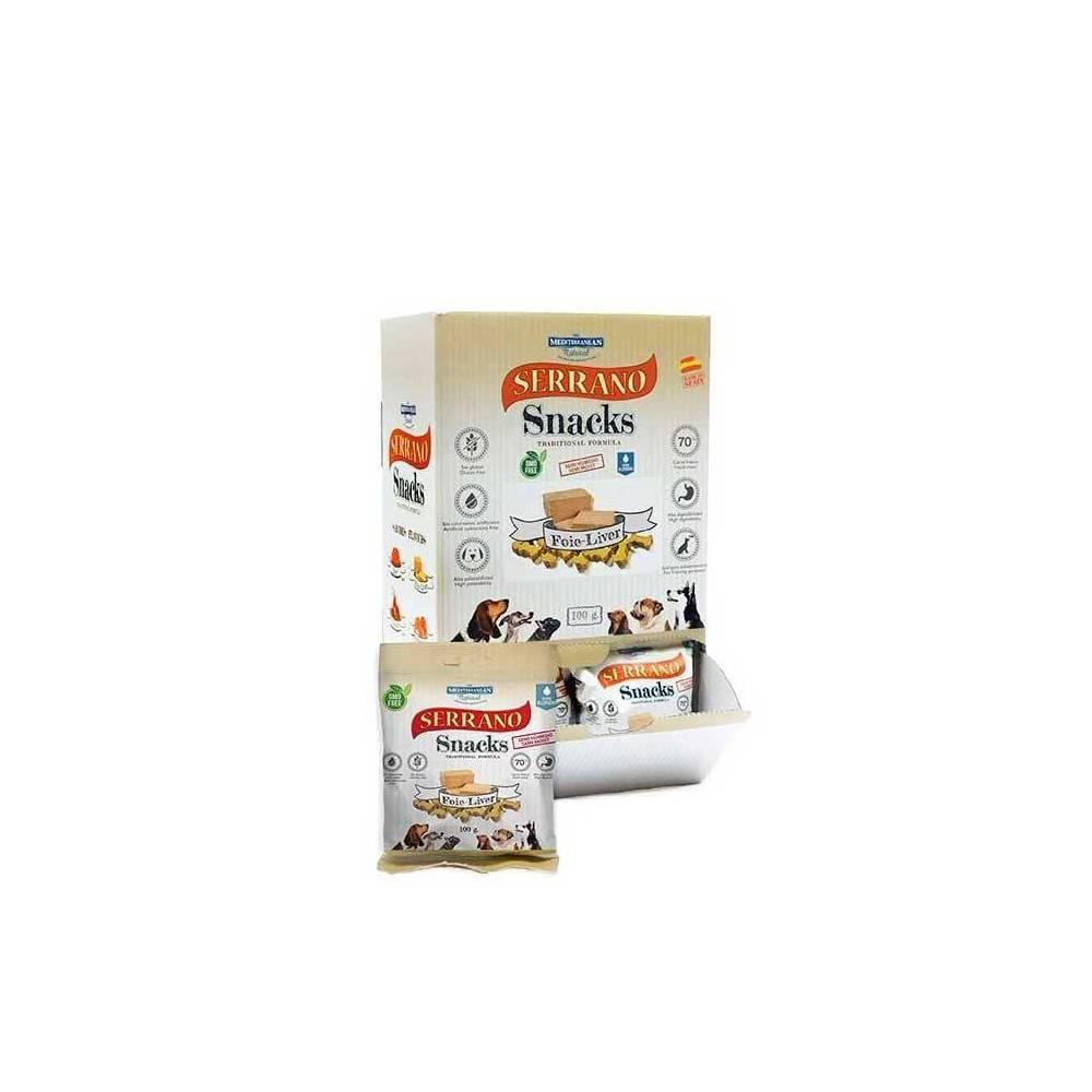 SERRANO Dog Snacks. Pork Liver. 1Box (25buc x 100gr)