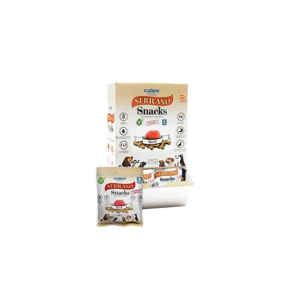 SERRANO Dog Snacks. Beef. 1Box (25buc x 100gr)