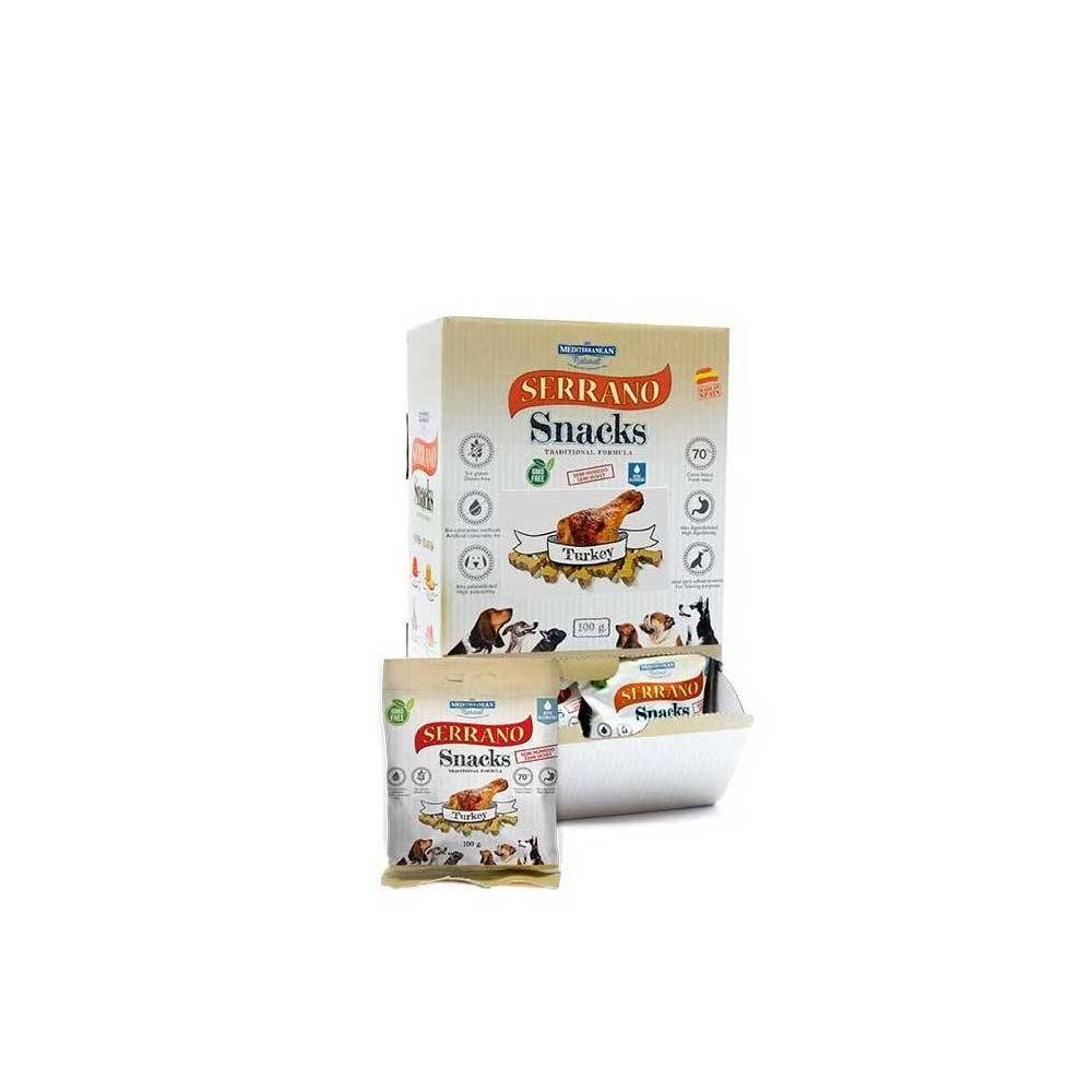 SERRANO Dog Snacks. Turkey. 100gr