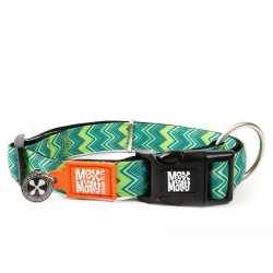 Hiro + Wolf Kitenge Grey Triangles Cat Collar