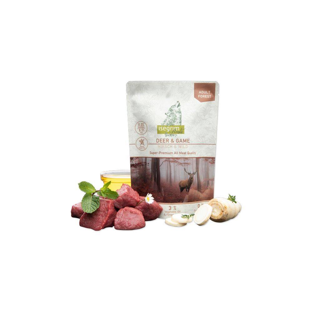 ISEGRIM ROOTS ADULT FOREST Deer + Game with Parsley Root, Safflower Oil & Forest Herbs